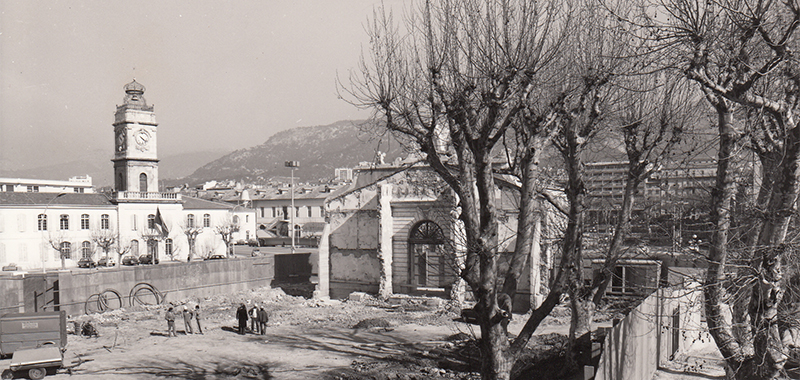 Construction site of the gateway to Arsenal Toulon