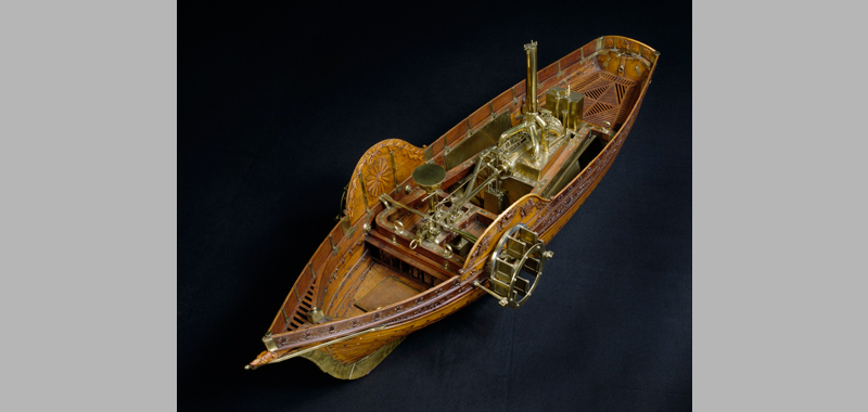 steam boat, top view