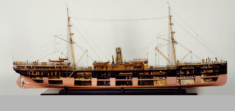 Paraguay, liner, 1888, seen from starboard