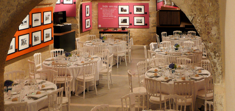 Exhibition space, dinner