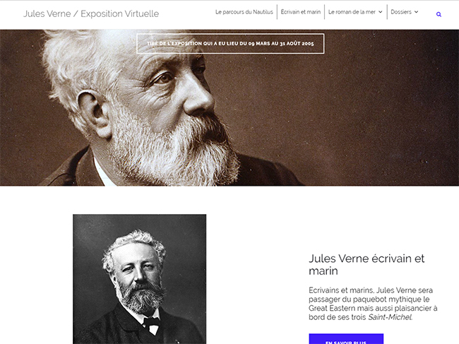 page of the Jules Verne virtual exhibition